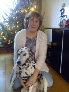 Janet met hond