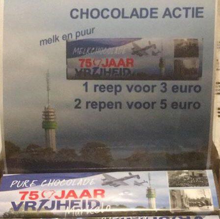 Chocoladereep met bevrijdingswikkel