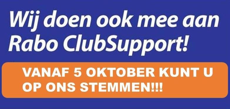 Wij doen mee met Rabo ClubSupport! Kunnen wij op jouw stem rekenen?